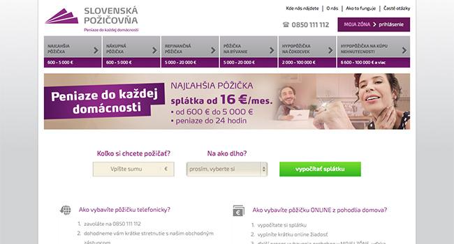 Pôžička Slovenská požičovňa
